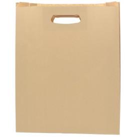 Papiertüten Hawanna mit Griffloch 41+10x42cm (50 Stück)