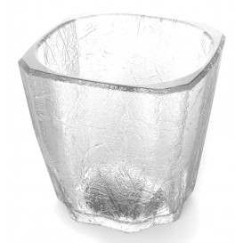 """Wiederverwendbares Glas SAN MiniDrink """"Cube"""" 200ml (8 Stück)"""