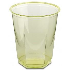 Plastikbecher Sechseckig PS Glasklar Pistazie 250ml (10 Uds)