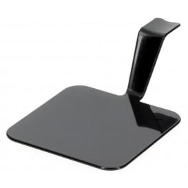 "Plastikteller ""Gourmand"" Schwarz 4x4cm (50 Stück)"