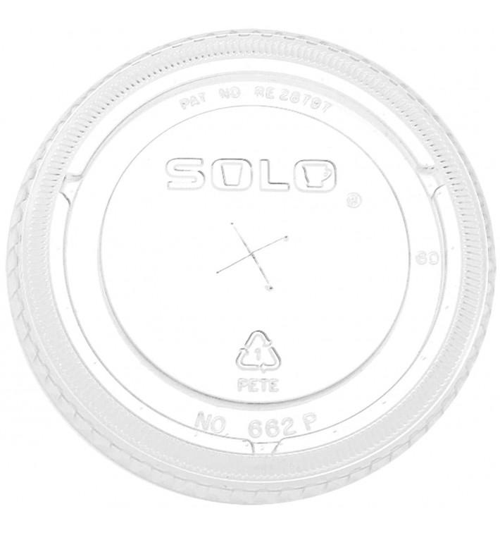 Deckel mit Kreuzschlitz PET Glasklar Ø9,2cm