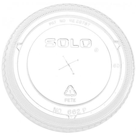 Deckel Flach mit Kreuz für Dessertbecher 5oz/8oz/9oz (1.000 Stück)