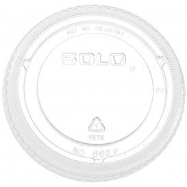 Deckel ohne Loch für Becher PET Solo Ultra Clear 12Oz/355ml (100 Stück)