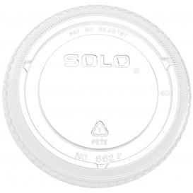 Deckel ohne Loch für Becher PET Solo Ultra Clear 16Oz Ø9,86 und 24Oz (100 Stück)
