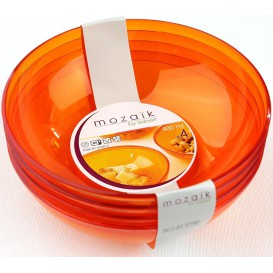 Plastikschale orange 400ml/14cm (4 Stück)
