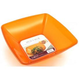 Viereckige Plastikschale orange 28x28cm (1 Stück)