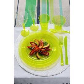 Plastikteller rund extra hart Grün 19cm (10 Stück)