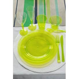 Plastikteller rund extra hart Grün 19cm (120 Stück)