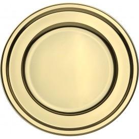 Plastikteller PET Rund Gold Ø23cm (180 Stück)