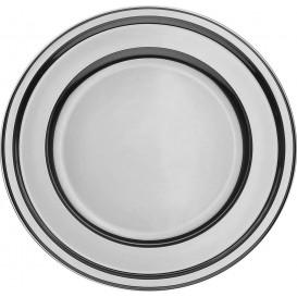 Plastikteller PET Rund Silber Ø18cm (180 Stück)