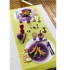 Weinglas mit Fuß Farbton aubergine 130ml zweiteilig (60 Stück)