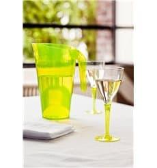 Weinglas mit grünem Fuß einteilig 130ml zweiteilig (6 Stück)