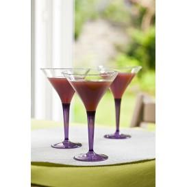 Cocktailglas Plastik mit Fuß aubergine 100ml (6 Stück)