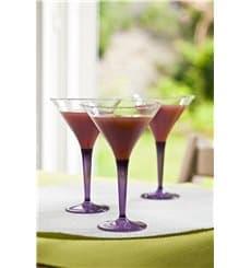 Cocktailglas Plastik mit Fuß Aubergine 100ml (48 Stück)