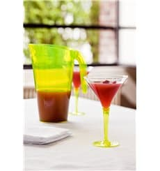 Cocktailglas Plastik mit Fuß grün 100ml (6 Stück)