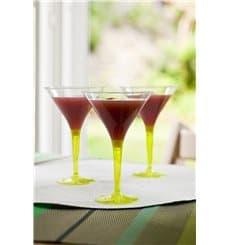 Cocktailglas Plastik mit Fuß grün 100ml (48 Stück)