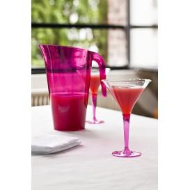 Cocktailglas Plastik mit Fuß himbeere 100ml (48 Stück)