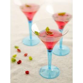 Cocktailglas Plastik mit Fuß türkis 100ml (48 Stück)