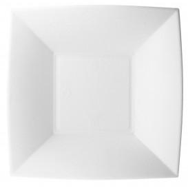 Teller Tiefe Zuckerrohr Weiß Nice 18x18cm (50 Stück)