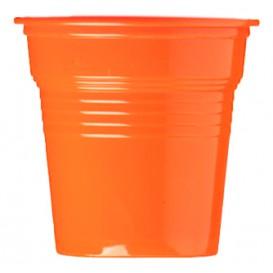 Plastikbecher PS Orange 80ml Ø5,7cm (50 Stück)