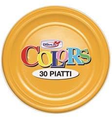 Plastikteller PS flach Mango 220mm (30 Stück)