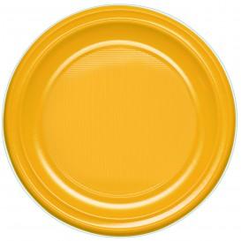 Plastikteller PS flach Mango 220mm (780 Stück)