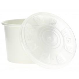 Pappbecher Weiß mit Deckel PP 250ml (50 Stück)