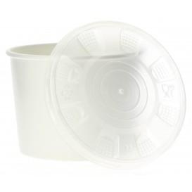 Pappbecher Weiß mit Deckel PP 350ml (50 Stück)