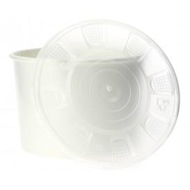 Pappbecher Weiß mit Deckel PP 488ml (250 Stück)