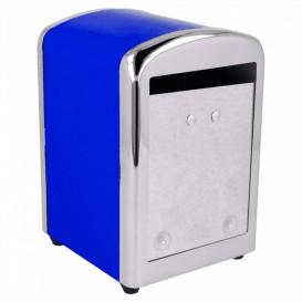 Serviettenspender Rostfrei Blau Miniservis 17x17 (12 Stück)
