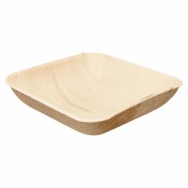 Palmblattschale Quadratisch 20x20x4cm (25 Stück)