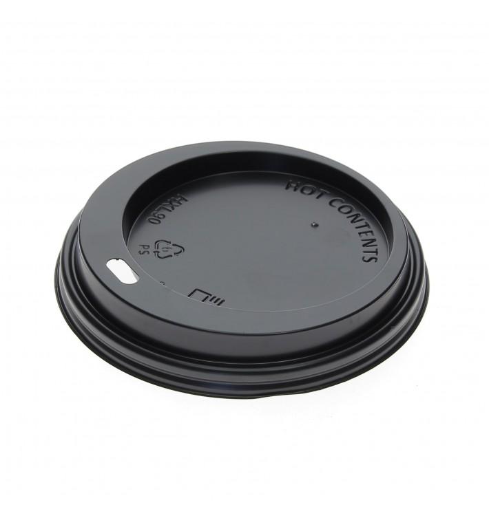 Deckel Schwarz für Becher 12, 16 y 22 Oz Ø9,0cm (1.000 Stück)