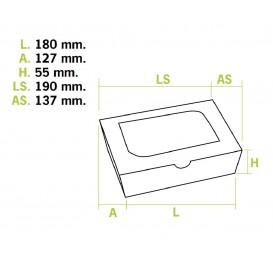 SnackBox mit Sichtfenster Kraft 18x12,7x5,5cm 1000ml (25 Stück)