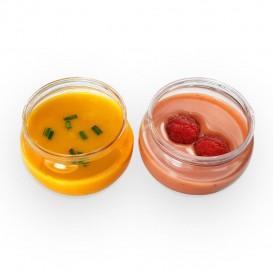 Fingerfood-Becher Rund Transparent 80ml (300 Stück)