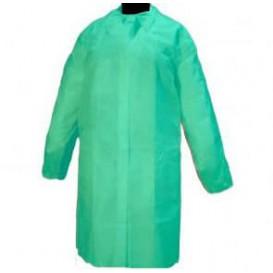 Einweg Schutzmäntel für Besuch Klettverschluss Ohne Tasche Grün (10 Stück)