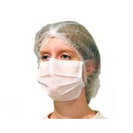 Mundschutz 2 lagig mit elastischen Ohrschlaufen weiß (50 Stück)