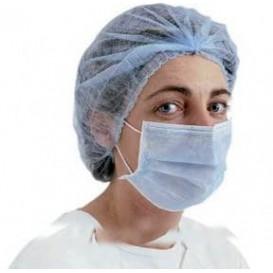 Mundschutz 2 lagig mit elastischen Ohrschlaufen Blau (50 Stück)