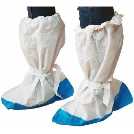 Überschuhe Polyethylen weiß mit Rutschhemmender Sohle Blau (200 Paar)