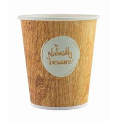 Bio Kaffeebecher to go PLA 9 Oz/270ml Ø8,0cm (50 Stück)