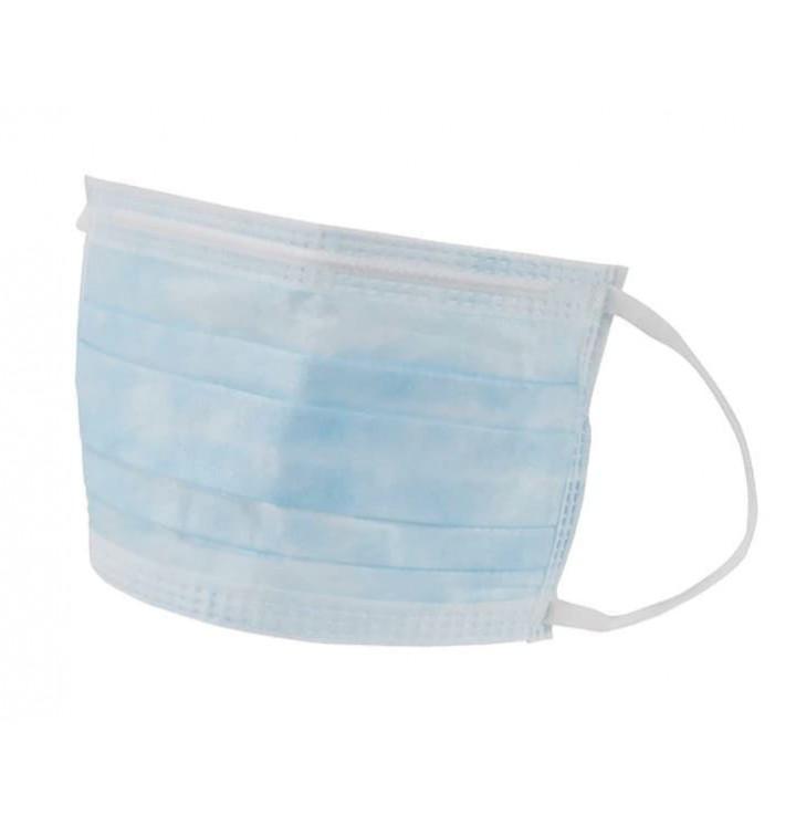 Mundschutz 3 lagig mit elastischen Ohrschlaufen Blau (1.000 Stück)