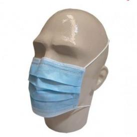 Mundschutz 3 lagig mit elastischen Ohrschlaufen Blau (50 Stück)