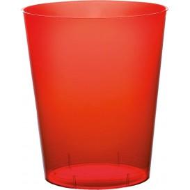 Becher aus Hartplastik Rot Transp. PS 350ml (500 Stück)