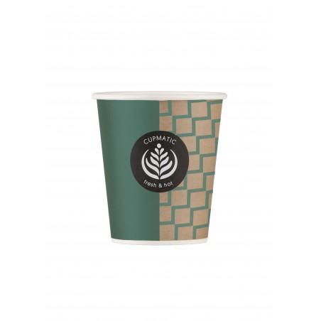 Bio Kaffeebecher Cupmatic 9 Oz/280ml Ø8,0cm (100 Stück)