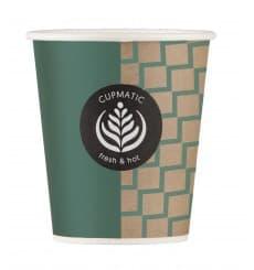Bio Kaffeebecher Cupmatic 9 Oz/280ml Ø8,0cm (50 Stück)