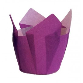 Muffinförmchen Tulpe Ø50x50/80 mm Violett (125 Stück)