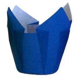 Muffinförmchen Tulpe Ø50x50/80 mm Blau (125 Stück)