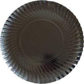 Pappteller Rund Schwarz 300 mm (100 Stück)