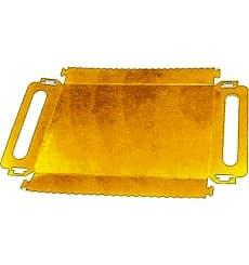 Pappschale rechteckig gold Griffe 300x120x25 mm (600 Stück)