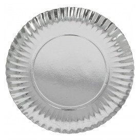 Pappteller Rund Silber 250 mm (500 Stück)