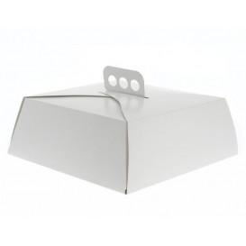 Gebäck Box Karton Weiß mit Dickel 325x325x100mm (50 Stück)